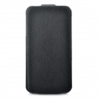 Protective Cow Leather Case for iPhone 4 - Black