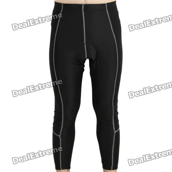 Cycling Bicycle Bike Riding Capri Pants - Black (Size L)