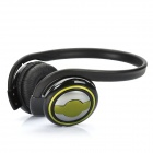 Rechargeable Sports Headset Headphone with FM / TF Slot - Green + Black