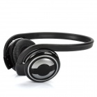 Rechargeable Sports Headset Headphone with FM / TF Slot - Silver + Black