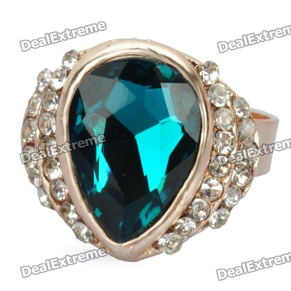 Elegant Crystal Ring - Emerald - Free Shipping - DealExtreme 60e40f10b