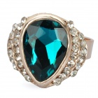 Elegant Crystal Ring - Emerald