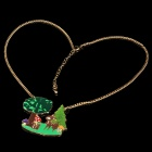 Pretty Little Deer in Spring Necklace - Green