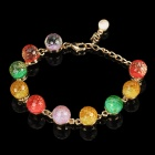 Magical Unique Colorful Crystal With Spacer Stretchy Bracelet - Colorful
