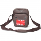 Cartoon Domo Pattern Single-shoulder Canvas Bag - Deep Brown