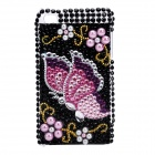 Protective Acrylic Butterfly Pattern Back Case for Ipod Touch 4