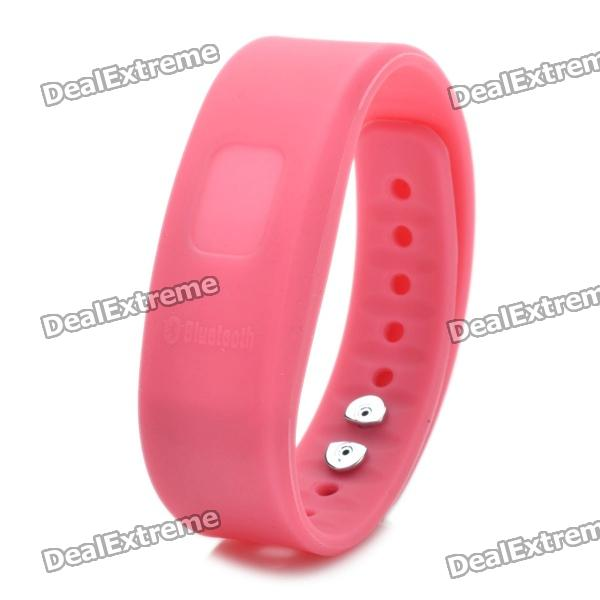 Bluetooth V2.0 Incoming Call Vibrate Alert Alarm Anti-lost Band Bracelet - Pink (90-Hour Standby) bluetooth v4 0 smart watch silicone wrist bracelet with incoming calls reminder