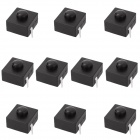 6.59mm Replacement Repair Parts Clicky Switch for Flashlight - Black (10-Piece Pack)