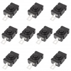 6.42mm Replacement Repair Parts Clicky Switch for Flashlight - Black (10-Piece Pack)