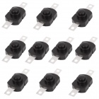 4.72mm Replacement Repair Parts Clicky Switch for Flashlight - Black (10-Piece Pack)