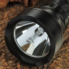 Waterproof Rechargeable 24W 6000K 2000-Lumen HID White Diving Torch Flashlight - Black