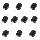 4.08mm Replacement Repair Parts Clicky Switch for Flashlight - Black (10-Piece Pack)