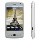 "DH9860 GSM TV Bar Phone w/3.7"" Resistive Screen, Dual SIM, Wi-Fi and Java - White"