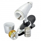 Bullet Style 0.1W 6500K 20LM LED White Light Reading Lamp with Clip (3 x LR44)