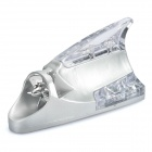 Wind Powered Shark Fin Shaped 0.25W 30LM 12-LED Colorful Light Car Decoration Lamp - Silver
