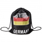 UEFA Euro 2012 Football Knapsack Cloth Bag with Germany Flag Image - Black