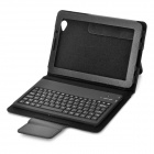 Bluetooth V3.0 62-Key Keyboard w/ Folding Leather Case Holder for Samsung P6800/P6810 Tablet - Black