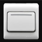 1-Gang Wall Plate Light Rocker Switch Panel - White