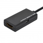 Micro USB to HDMI MHL Adapter Cable - Black (8cm)