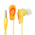 3.5 mm In-ear Slipper Style Stereo Earphone - Yellow