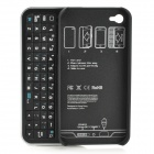 Ultrathin Bluetooth Keyboard Hard Case for Iphone 4 / 4S - Black