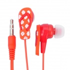 3.5 mm In-ear Slipper Style Stereo Earphone - Red