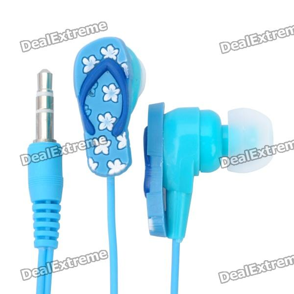 3.5 mm In-ear Slipper Style Stereo Earphone - Blue