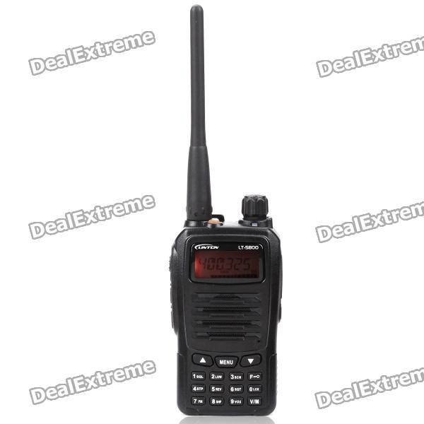 LT-5800 Handheld 4W UHF 400-470MHz 128-CH Walkie Talkie - Black (1.4 LCD)