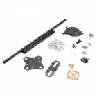 Carbon Fiber 4-Axis R/C Helicopter Shaft Frame Set - Black
