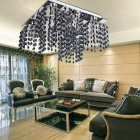 Contemporary Glass 5-light Flushmount Ceiling Chandelier (110-120V)
