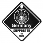 UEFA Euro 2012 National Football Team Badge Car Suction Cup Decoration Board - Germany