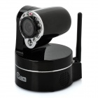 "IP-602X 1/4"" Color CMOS Wi-Fi Wireless Security IP Network Camera w/ 12-LED IR Night Vision - Black"