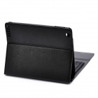 Wireless Bluetooth V3.0 76-Key Keyboard w/ PU Leather Case for the New iPad - Black
