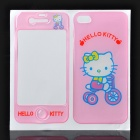 Hello Kitty Style Decorative Protective Front + Back Cover Sticker for iPhone 4/4S - Pink