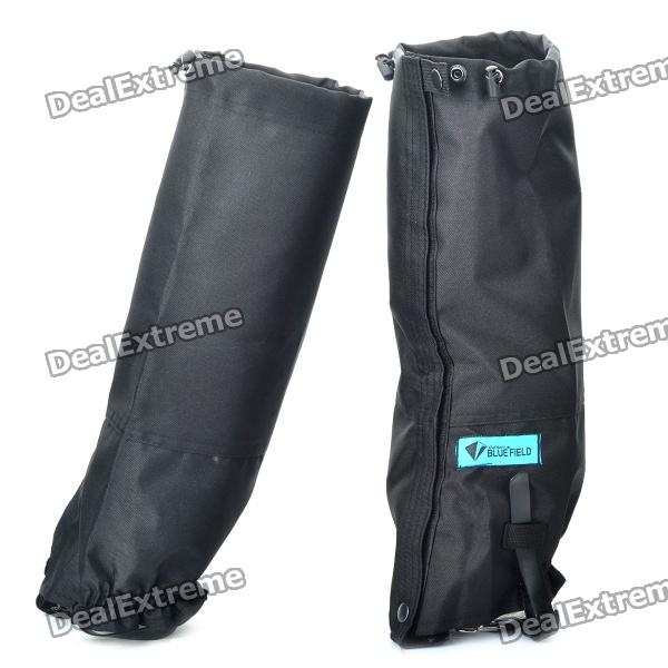 Waterproof Boot Legging Gaiters for Outdoor Activities - Black (Pair)