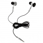Stylish Stereo Dual-Side Earbuds Earphone for Ipad / Iphone - Silver (3.5mm-Plug)