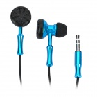 Stylish Stereo Dual-Side Earbuds Earphone for iPad / iPhone - Blue (3.5mm-Plug)