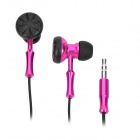 Stylish Stereo Dual-Side Earbuds Earphone for Ipad / Iphone - Deep Pink (3.5mm-Plug)