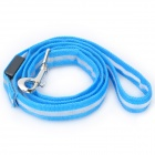 Adjustable 3-Mode Orange Light LED Flashing Pet Dog Leash - Blue (2 x CR2032/38cm)