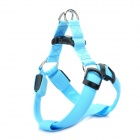 3-Mode Blue Light LED Flashing Adjustable Strap Pet Dog Leash - Blue (4 x CR2032 / 35~50cm)