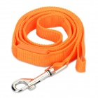 3-Mode Orange Light LED Flashing Pet Dog Leash - Orange (2 x CR2032 / 117cm)