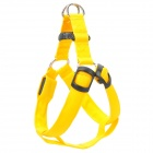 Adjustable 3-Mode Orange Light LED Flashing Dog Chest Belt - Yellow