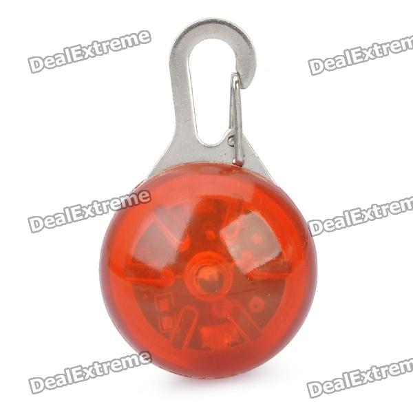 Red Flashing LED Pet Collar Pendant Safety Light - Red (1 x CR2032)