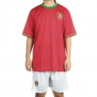 UEFA Euro 2012 Home Jersey Shirt & Shorts Set for Portugal Team - Red + White (Size S)