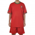 UEFA Euro 2012 Home Jersey Shirt & Shorts Set for Portugal Team - Red + Green (Size XL)