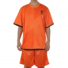 UEFA Euro 2012 Home Jersey Shirt & Shorts Set for Netherlands Team - Orange + Black (Size XL)