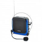 "1.1"" LCD Portable Speaker Voice Amplifier w/ Headset Microphone / FM / TF Slot - Black + Blue"