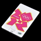Olympiade 2012 in London Logo Image Pattern Auto Stil USB 2.0 Flash Drive - White + Violet (16GB)