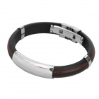 Stainless Steel Pressure Reduction Magnetic Bracelets Bangles - Black + Brown