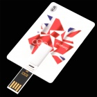 Cool 2012 London Olympic Card Style USB Flash Drive - White + Red (8 GB)